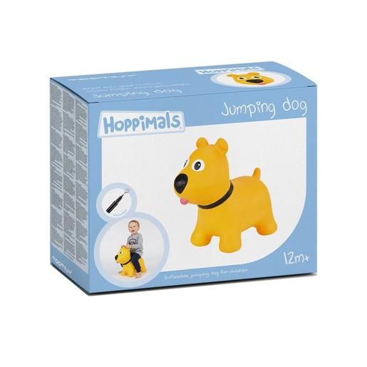 Hoppimals Jumping Dog Φουσκωτό Σκυλάκι Χοπ Χοπ, Ζωγραφισμένο στο Χέρι σε Κίτρινο Χρώμα, από 12 Μηνών