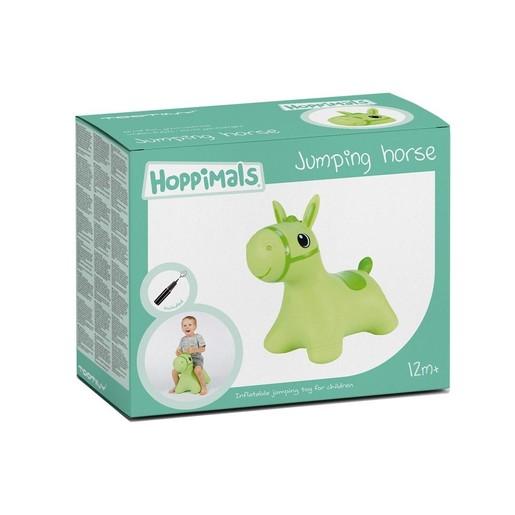 Hoppimals Jumping Horse Φουσκωτό Αλογάκι Χοπ Χοπ, Ζωγραφισμένο στο Χέρι σε Πράσινο Χρώμα, από 12 Μηνών