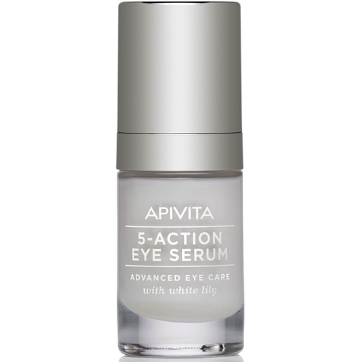 Apivita 5-Action Eye Serum With White Lily 15ml