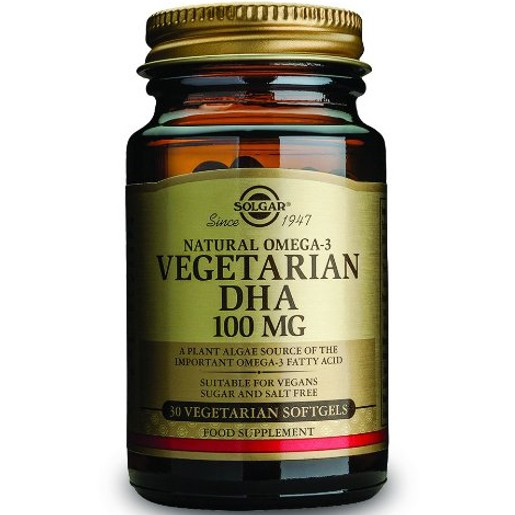Solgar DHA Vegeterian 100mg 30 softgels