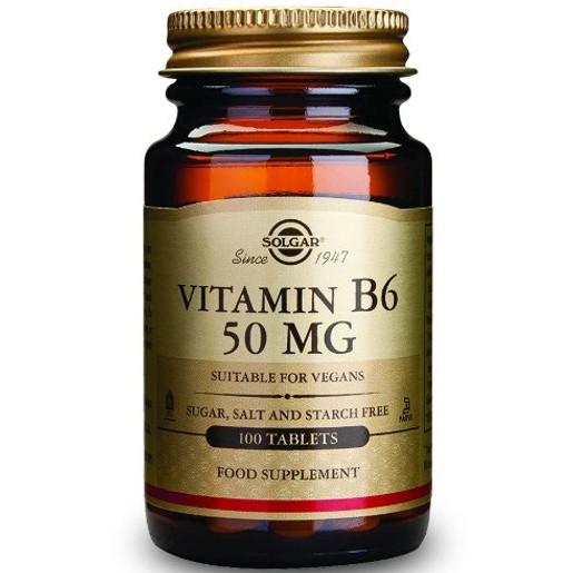 Solgar Vitamin B6  tabs/veg.caps