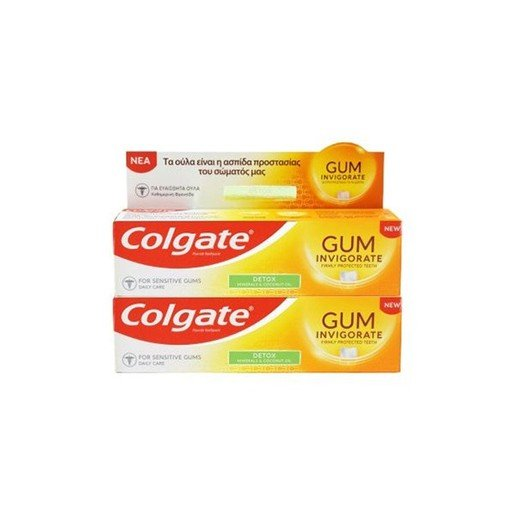 Colgate Promo Gum Invigorate Revitalise Φθοριούχος Οδοντόκρεμα για Καθημερινή Στοματική Υγιεινή 2x75 ml