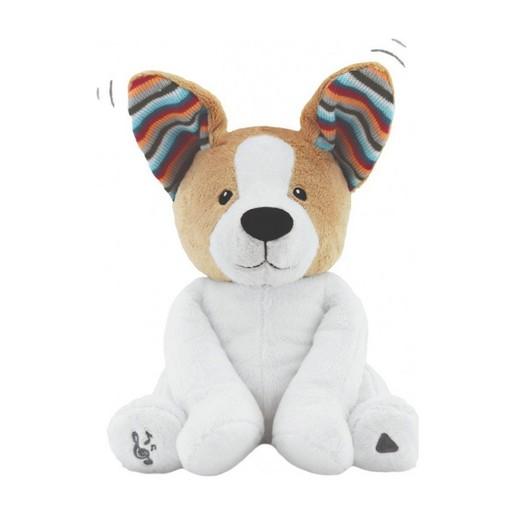 Zazu Peek a Boo Soft Toy Danny Λούτρινο Μουσικό Σκυλάκι με Κουνιστά Αυτάκια, από 0 Μηνών