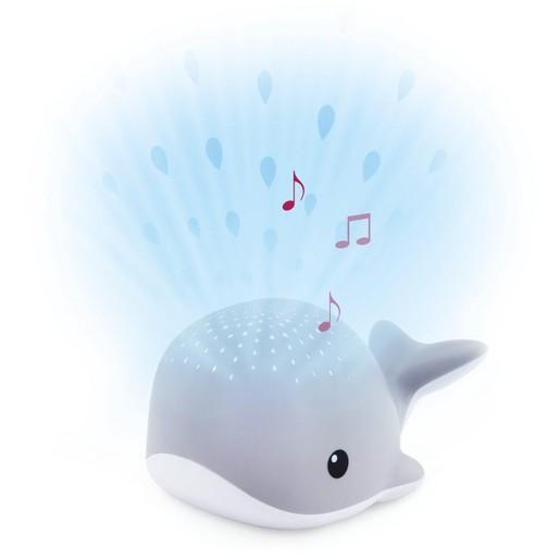 Zazu Light Projector Wally Grey Whale Βρεφικός Προβολέας - Φωτιστικό, με Λευκούς Ήχους, Γκρι Φαλανίτσα