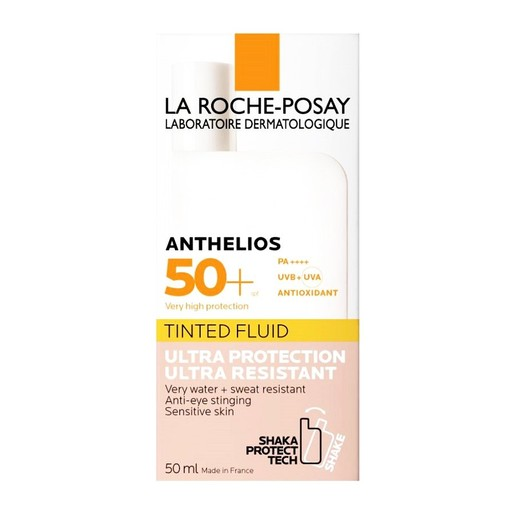 La Roche Posay Anthelios Shaka Fluid Tinted Spf50+ Αντιηλιακή Κρέμα Προσώπου με Χρώμα 50ml