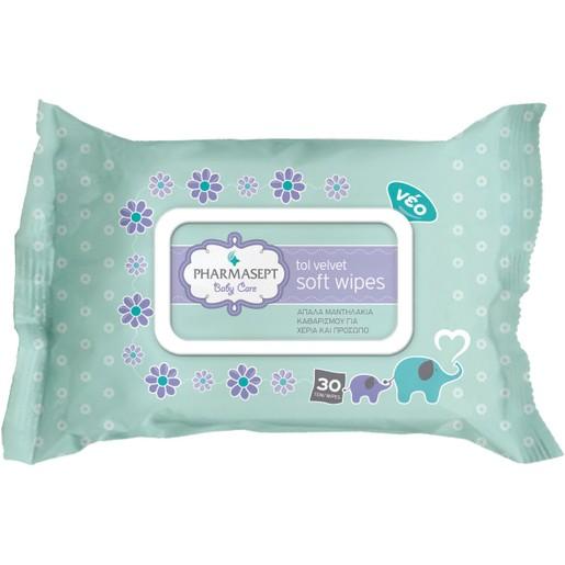 Pharmasept Tol Velvet Baby Care Soft Wipes 30τμχ