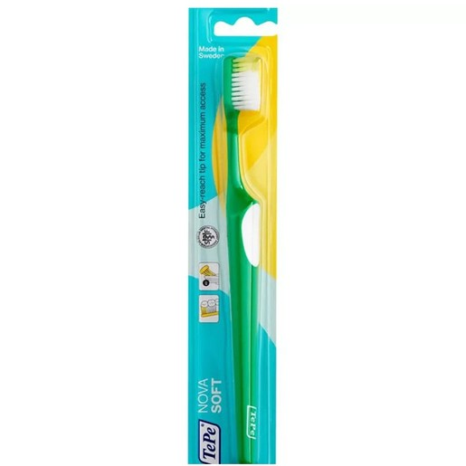 TePe Nova Soft Οδοντόβουρτσα Μαλακή με Ειδικά Σχεδιασμένη Κεφαλή για Καλή Πρόσβαση που δεν Τραυματίζει 1 Τεμάχιο