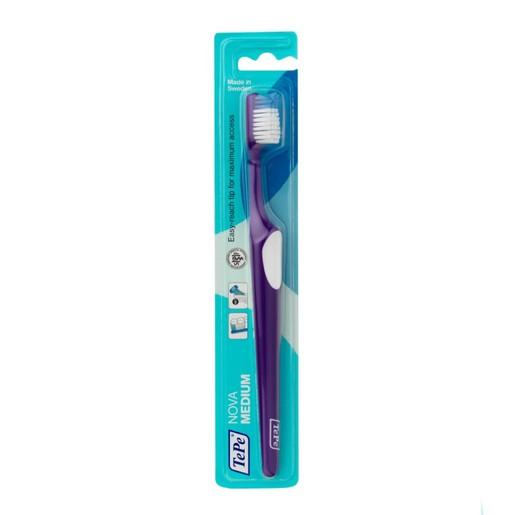 TePe Nova Medium Οδοντόβουρτσα Μέτρια με Ειδικά Σχεδιασμένη Κεφαλή για Καλή Πρόσβαση που δεν Τραυματίζει 1 Τεμάχιο