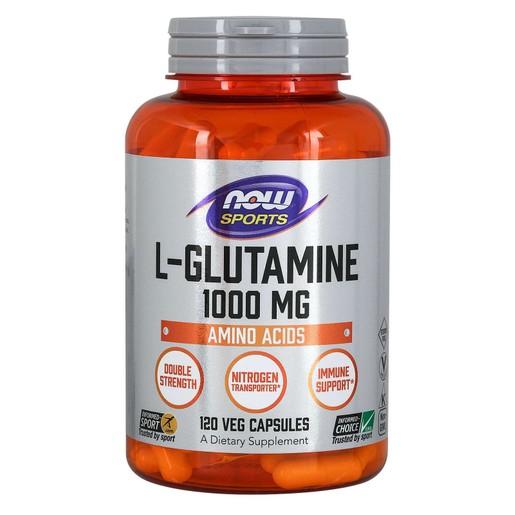 Now Foods L-Glutamine Double Strength 1000mg Συμπλήρωμα Διατροφής για Αποκατάσταση & Διατήρηση της Εντερικής Υγείας 120 VegCaps