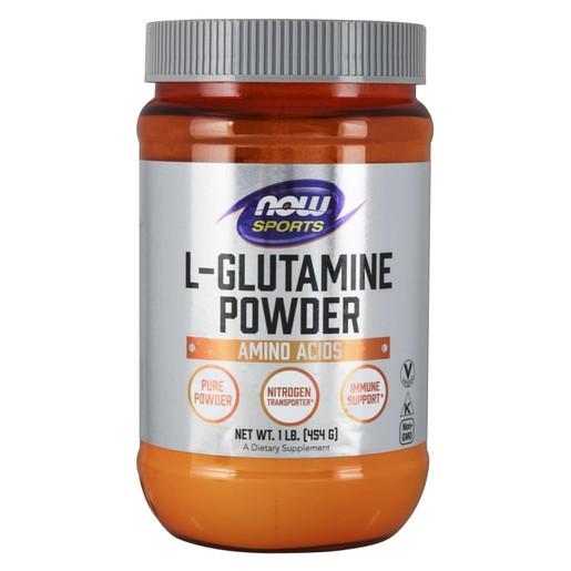 Now Foods L-Glutamine Pure Powder Vegetarian Συμπλήρωμα Διατροφής Καθαρής Γλουταμίνης σε Σκόνη για Μέγιστη Απορρόφηση 454gr