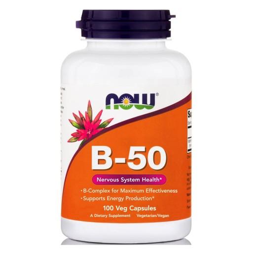Now Foods B-50 Complex Προάγει την Υγεία του Νευρικού Συστήματος 100caps