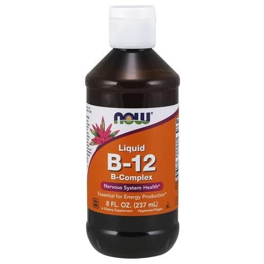 Now Foods Liquid B12 Complex Vegetarian Συμπλήρωμα Διατροφής, Υγρή Βιταμίνη Β-12 για την Υγεία του Νευρικού Συστήματος 237ml