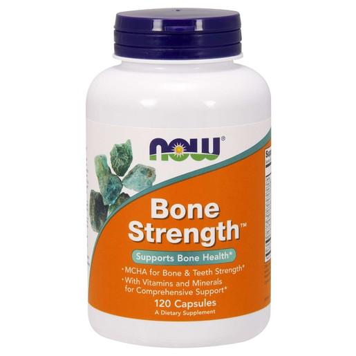 Now Foods Bone Strength™ Συμπλήρωμα Διατροφής Ενισχυμένης Πολυφόρμουλας που Συμβάλλει στην Προστασία της Οστεϊκής Μάζας 120 Caps