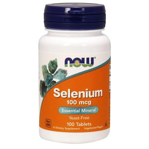 Now Foods Selenium 100mcg Yeast Free Selenomethionine Vegetarian Συμπλήρωμα Διατροφής Αντιοξειδωτικό Ενίσχυση Θυρεοειδή 100 tabs