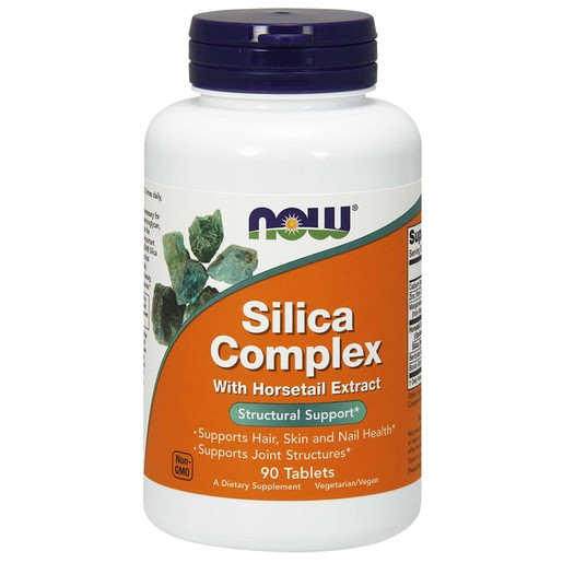 Now Foods Silica Complex 500mg (With Horsetail Extract) Συμπλήρωμα Διατροφής Φόρμουλα Φυσικού Πυριτίου 90 tabs