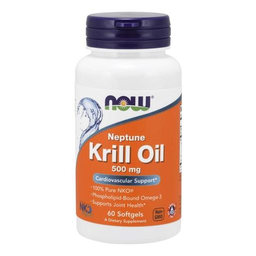 Now Foods Neptune Krill Oil 500mg Συμπλήρωμα Διατροφής, Αντιοξειδωτικό Λιπαρό Οξύ, για Δυνατό Ανοσοποιητικό Σύστημα 60 Softgels