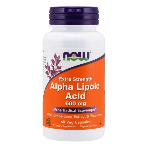 Now Foods Alpha Lipoic Acid 600mg Συμπλήρωμα Διατροφής, Πανίσχυρο Αντιοξειδωτικό, Αποτοξίνωση Βαρέων Μετάλλων 60 VegCaps