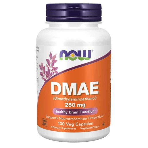 Now Foods DMAE 250mg (Dimelthylaminoethanol) Συμπλήρωμα Διατροφής για τη Τόνωση του Νευρικού Συστήματος & της Μνήμης 100 VegCaps