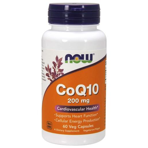 Now Foods CoQ10 200mg Συμπλήρωμα Διατροφής για Υγιές Καρδιαγγειακό Σύστημα με Αντιοξειδωτική Δράση 60 VegCaps