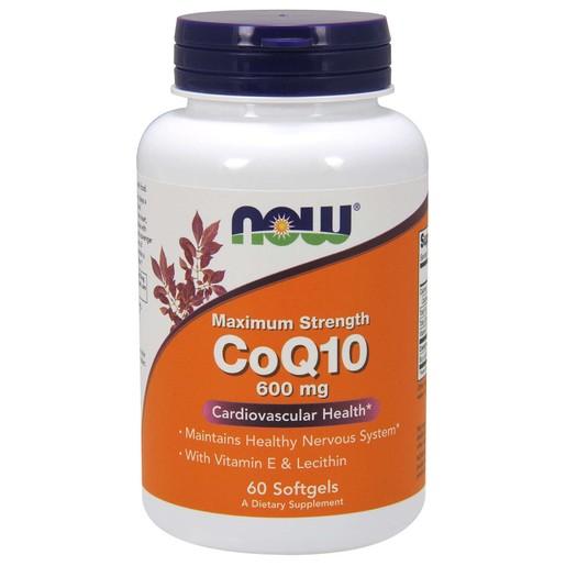 Now Foods CoQ10 600mg Maximum Strengh Συμπλήρωμα Διατροφής για Υγιές Καρδιαγγειακό Σύστημα με Αντιοξειδωτική Δράση 60 Softgels