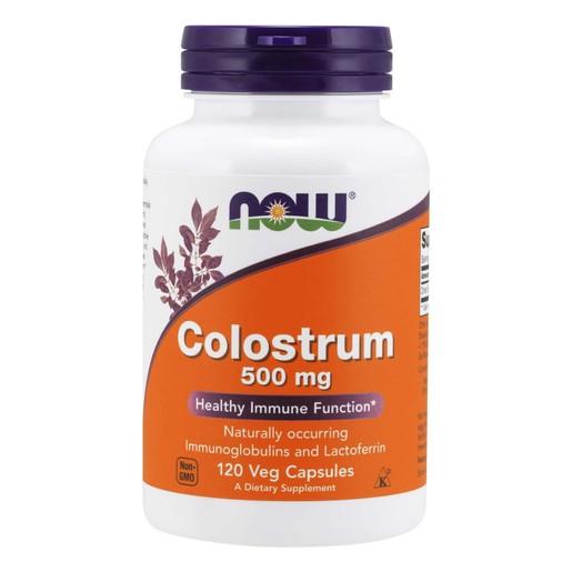 Now Foods Colostrum 500mg Συμπλήρωμα Διατροφής από Πρωτόγαλα για Δυνατό Ανοσοποιητικό 120 VegCaps