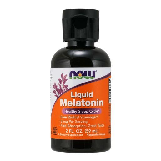 Now Foods Liquid Melatonin 3mg Συμπλήρωμα Διατροφής Μελατονίνης για την Αντιμετώπιση της Αϋπνίας & τις Διαταραχές του Ύπνου 59ml