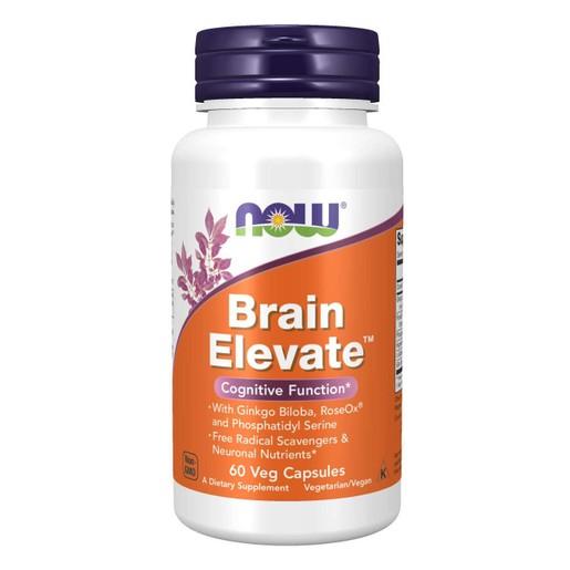 Now Foods Brain Elevate™ Συμπλήρωμα Διατροφής για την Σωστή Εγκεφαλική Λειτουργία & την Ενίσχυση της Μνήμης 60 VegCaps