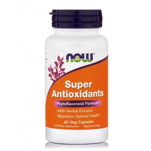 Now Foods Super Antioxidants Συμπλήρωμα Διατροφής Ισχυρής Αντιοξειδωτικής Προστασίας για τον Οργανισμό 60 Vegcaps