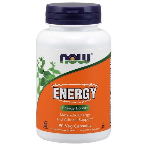 Now Foods Energy Ephedra Συμπλήρωμα Διατροφής, Φόρμουλα για Ενέργεια με Βιταμίνες, Μέταλλα & Βότανα  90 VegCaps