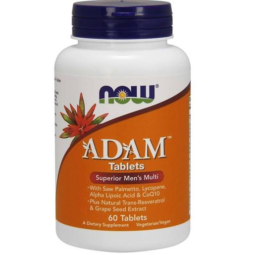 Now Foods Adam™ Men\'s Multiple Vitamin Πολυβιταμινούχος Φόρμουλα Ειδικά Σχεδιασμένη για τον Άνδρα 60tabs
