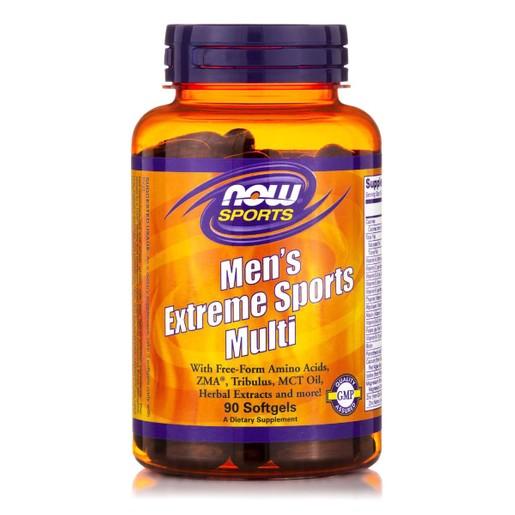 Now Foods Men\'s Extreme Sports Multi Συμπλήρωμα Διατροφής, Πολυφόρμουλα Ενέργειας για Αθλητές 90 softgels