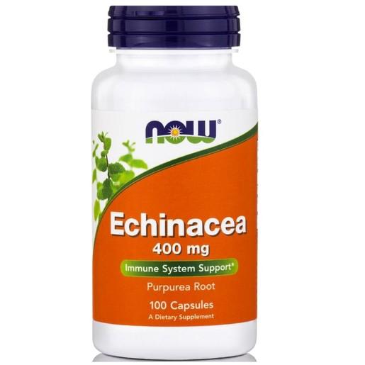 Now Foods Echinacea με Ανοσοδιεγερτικές Αντιφλεγμονώδεις Αντιβακτηριακές και Αντιϊκές Ιδιότητες 400mg 100caps