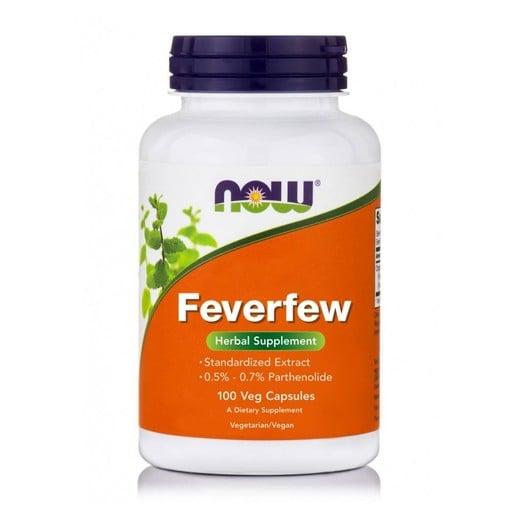 Now Foods Feverfew 400mg Φυτικό Συμπλήρωμα Διατροφής Αναλγητικό, Αντιφλεγμονώδες & Αντιπυρετικό 100 VegCaps