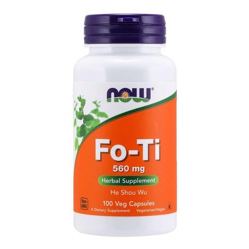 Now Foods Fo-Ti 560mg Φυτικό Συμπλήρωμα Διατροφής για Ενέργεια, Αποτοξίνωση & Τόνωση του Οργανισμού 100 VegCaps