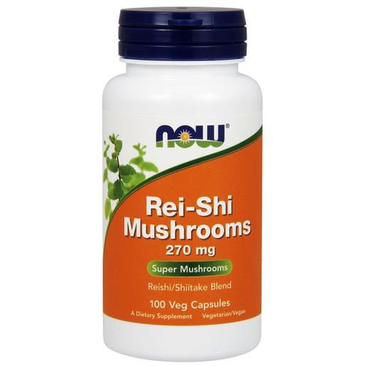 Now Foods Rei-Shi Mushrooms 270mg Συμπλήρωμα Διατροφής που Ενισχύει την Ομαλή Ανοσολογική Απόκριση του Οργανισμού 100 VegCaps