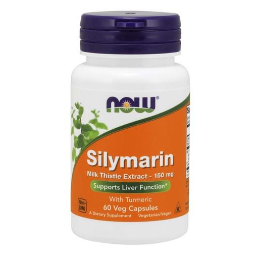Now Foods Silymarin Milk Thistle Extract 150mg Συμπλήρωμα Διατροφής, Αποτοξίνωση, Προστασία & Αναζωογόνηση του Ήπατος 60 VegCaps