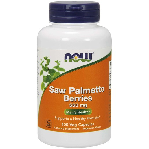 Now Foods Saw Palmetto Berries 550mg Συμπλήρωμα Διατροφής που Ανακουφίζει από τα Συμπτώματα του Προστάτη 100 VegCaps