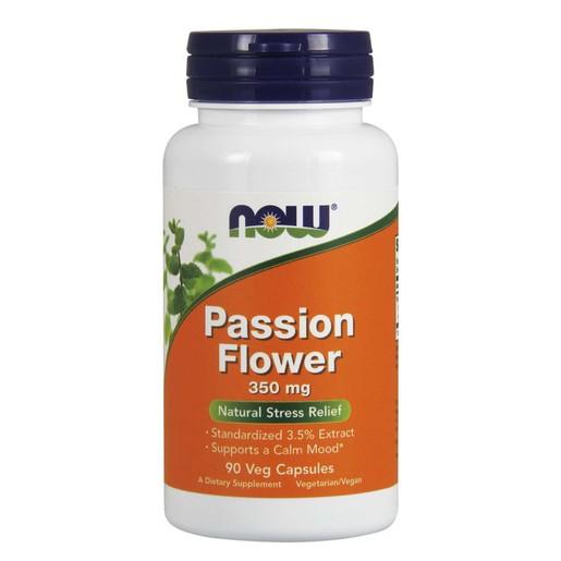 Now Foods Passion Flower 350mg 3.5% Extract Συμπλήρωμα Διατροφής, Βοηθά στη Χαλάρωση & τη Μείωση της Υπερέντασης 90 VegCaps