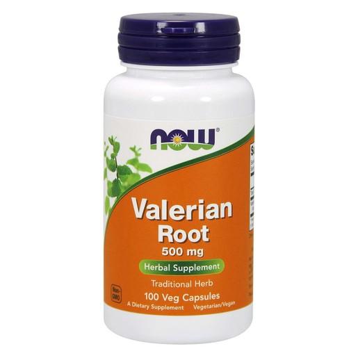 Now Foods Valerian Root 500mg Συμπλήρωμα Διατροφής από το Φυτό Βαλεριάνα, με Ηρεμιστικές & Αντισπασμωδικές Ιδιότητες 100 VegCaps
