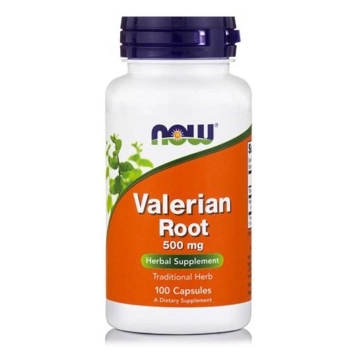 Now Foods Valerian Root 500mg Συμπλήρωμα Διατροφής από το Φυτό Βαλεριάνα, με Ηρεμιστικές & Αντισπασμωδικές Ιδιότητες 100 Caps