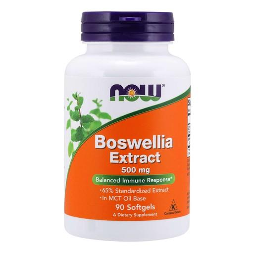 Now Foods Boswellia Extract 500mg Συμπλήρωμα Διατροφής για την Ισορροπία του Ανοσοποιητικού, Αντιφλεγμονώδες 90 Softgels