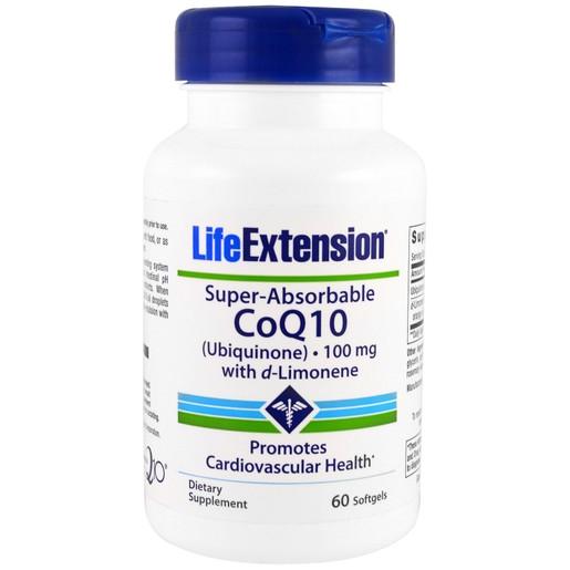 Life Extension Super-Absorbable CoQ1 With D-Limonene Συμπλήρωμα με Αντιοξειδωτική Δράση για την Υγεία της Καρδιάς 60 Softgels