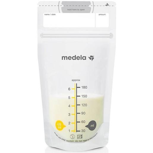 Medela Breastmilk Storage Bags Ασκοί (Σακουλάκια) Φύλαξης Μητρικού Γάλακτος 25 Τεμάχια x 180ml