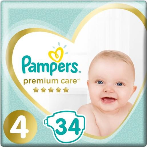 Pampers Premium Care Νο4 Maxi (9-14kg) 34 πάνες
