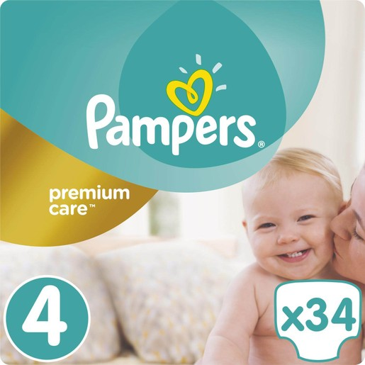Premium Care No4 Maxi (8-14kg) 34 πάνες - Pampers