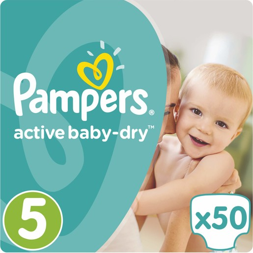 Pampers Active Baby Dry Jumbo Pack No5 (11-18kg) 50 πάνες