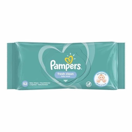 Pampers Fresh Clean Wipes Μωρομάντηλα με Άρωμα Φρεσκάδας 52 Wipes