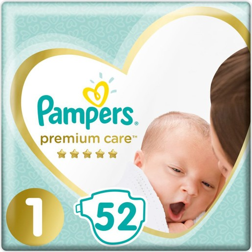 Pampers Premium Care No1 Newborn (2-5kg) 52 πάνες