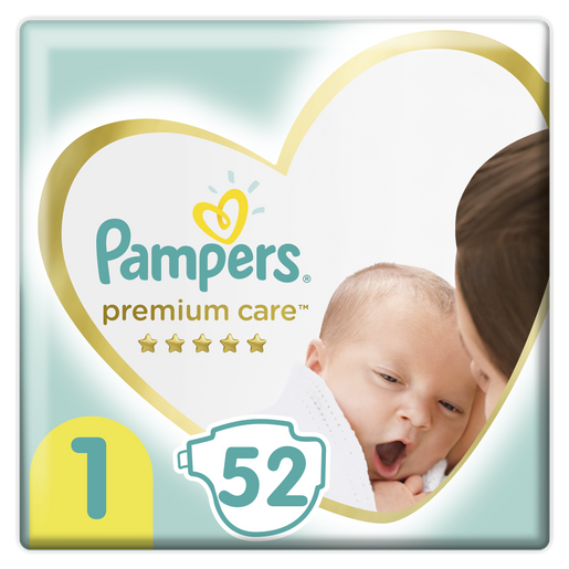 Pampers Premium Care Νο1 Newborn (2-5kg) 52 πάνες