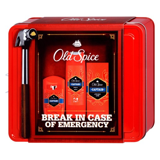 Old Spice Captain Set Break in Case Of Emergency Deodorant Stick 50ml & Shower Gel+Shampoo 250ml & After Shave Lotion 100ml